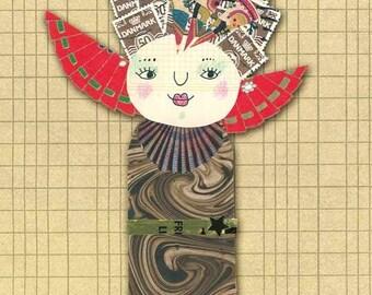 Stamp Lady - Postcard of one of my Paper ladies