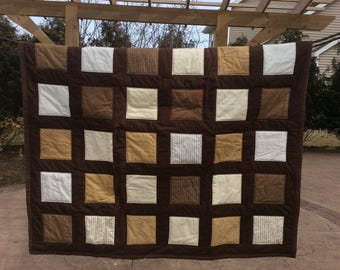 Brown and Cream Baby Quilt