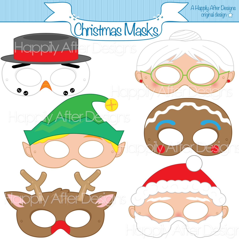 christmas printable masks santa mask snowman mask rudolph