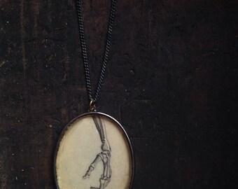 Index Finger // Handmade Resin Pendant Necklace