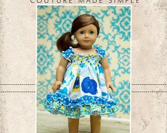 "Seyla's Sundress & Top PDF Pattern 15"" and 18"" Doll Sizes"