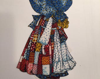 Vintage Holly Hobbie Iron On Applique - OOP