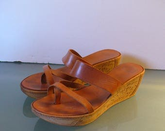 Made in Greece Wedge Heeled Sandals Size 39EU