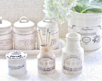 Antique Caviar Jar Fortnum & Mason Advertising Label Ironstone Made in England