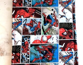 Spiderman Trivet Large Rectangle Reversible Comic Book Motif Blue Red Hot Pad Teacher Gift Pollyanna Gift Stocking Stuffer Kitchen Decor