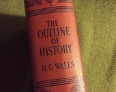 The Outline of History Volume I by H. G. Wells, Book, Vintage -- VK394