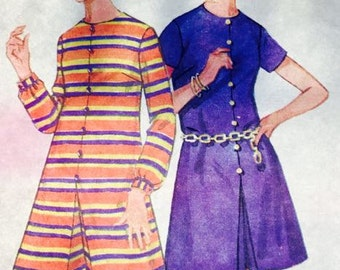 Vintage A-line Pantdress pattern Butterick 4780