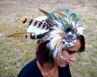 SPIRAL GROOVE Feather Headdress