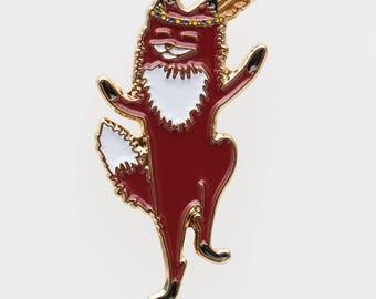 Enamel Pin // Dancing Fox