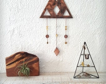 DUSK Wall Hanging - Copper and Brass Geometric Wall Hanging