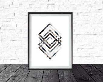 Printable Art, Geometric, Minimalist Art, Hipster Decor, Affordable Wall Art, Nursery Decor, Neutral Home Decor