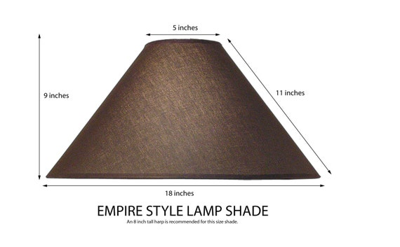 empire coolie style lamp shade translucent linen fabric black. Black Bedroom Furniture Sets. Home Design Ideas