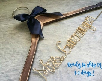 Bridesmaid Dress Hanger | Wedding Hanger | Bridal Hanger | Dress Hanger Wire | Personalized Custom Wedding Hanger | Personalized Hanger
