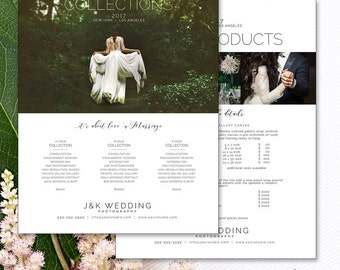 Pricing Guide Wedding Photography, Photoshop Template for Photographers, Photography Pricing, Price List Template, PGW120, Instant Download