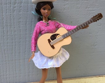 Barbie Doll House Country ROCK STAR Guitar VIGNETTE Room Furniture & Accessories Music Band Rocker