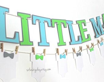 Little Man banner. Mustache party Onesie banner. Bowtie banner. First birthday. Little Man baby shower. Little man birthday mustache decor