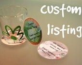 Custom listing - 6 round coasters in laminated cardboards