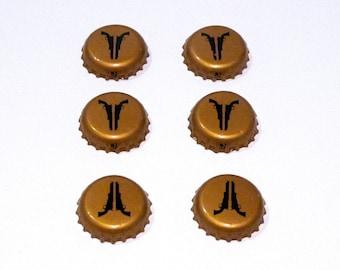 Revolver Beer Caps (6) Craft Supply Choose Color You Want Metal Beer Bottle Caps Texas Bottlecaps Metal Beverage Caps Orange Gold Cream