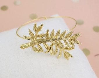 Gold Branch Adjustable Bracelet,Branch Adjustable Bangle,Bridal Bracelet, Bridesmaid Bracelet, Brach Bracelet