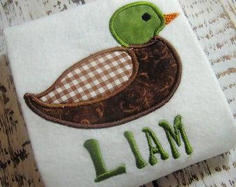 Applique mallard machine embroidery design, Mallard bird appliqué, hunting bird design, appliqué bird, Machine embroidery mallard duck