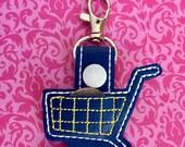 Shopping Cart Coin Vinyl Key Chain Shopping Cart Zipper Pull