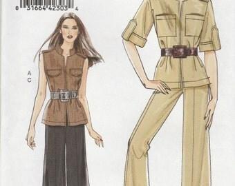 Vest, Jacket & Pants Pattern Vogue 8502 Sizes 8 - 16 Uncut