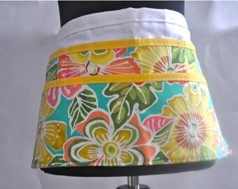 Utility Apron, Women's Vendor Apron, Tropical Apron, teacher apron, craft fair apron, vendor apron, Tropical Floral apron, Tropical aprons