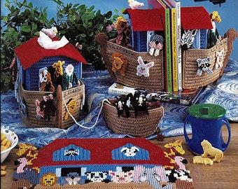 Noah's Ark Plastic Canvas Pattern Book American School of Needlework 3180