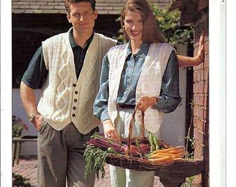 His and Her Waistcoats Knit Pattern Book Tivoli 769