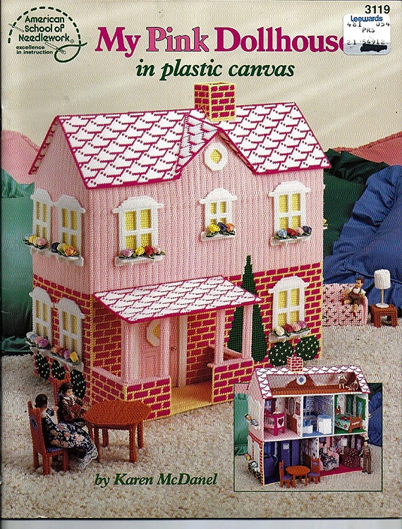 My Pink Dollhouse In Plastic Canvas Pattern Book American