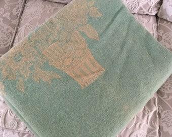 Vintage Heavy Wool Woven Blanket