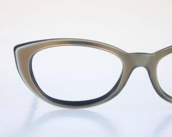 Vintage 50's Bronze Cat Eye Eyeglasses Sunglass Frames