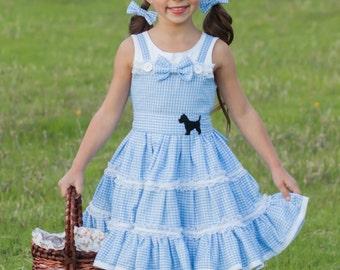 Dorothy Costume - Girls Halloween Costume - Dorothy Dress - Wizard of Oz Costume - Gingham Dress - Girls Birthday Dress - Oz Birthday Party