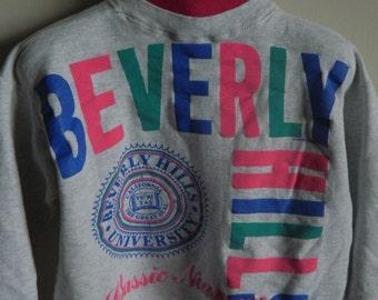 Vintage BEVERLY HILLS Crewneck Sweater, California Beverly Hills University Sweater, Beverly Hills Top, Beverly Hills