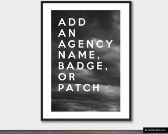 Customization Add-On Personalize Add Name Badge Number Agency Name Logo Patch