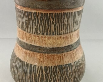 Beautiful Vase Decorated with Sgraffito