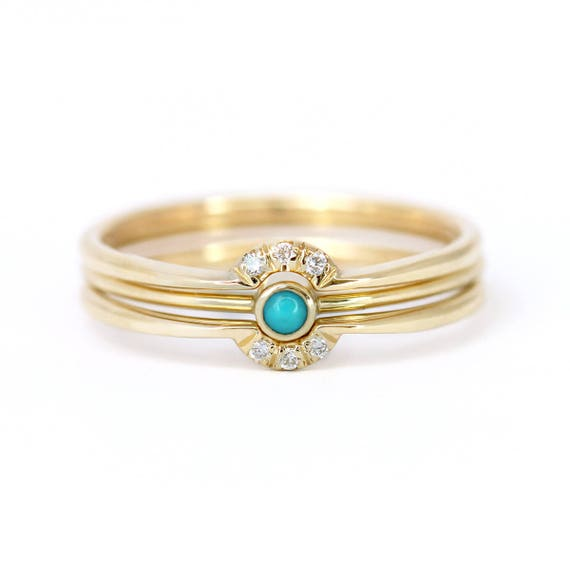 like this item - Turquoise Wedding Rings