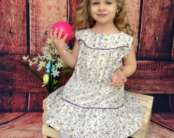 Little Girl's Sundress, Toddler Dress, Purple Dress, Spring Dress, Little Girls Dress, Boutique Dress, Spring Dress, Baby Girls Dress