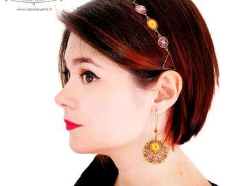 Filigree mandala earrings - choose your favorite color!