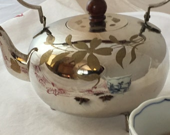 Vintage Silver Plated Teapot from India