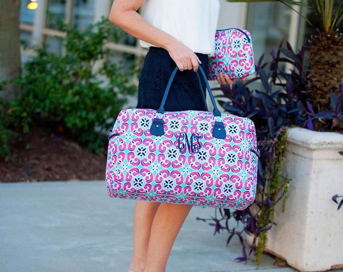 Monogrammed Weekender Bag, Monogrammed Duffle Bags, Overnight Bag, Honeymoon Bag, Bridal Shower Gift, Graduation Gifts