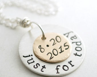 Custom Date Necklace for Sober Gift Personalized Date Necklace for Women - Sober Anniversary - Custom Sobriety Gift with Personalized Date