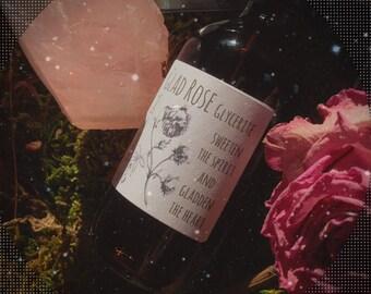 Floral Elixir Rose Petals Glycerite Heart Medicine Glycerin Tincture Rose medicine Heart awakening