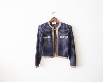 St John Knit Jacket / St. John Marie Gray Cardigan / Vintage St John Knit Sweater