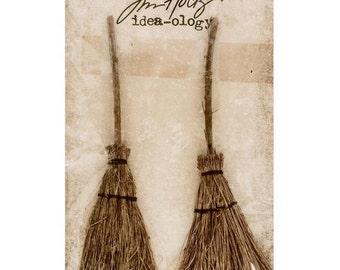 Broomsticks-Tim Holtz - Idea-ology Collection