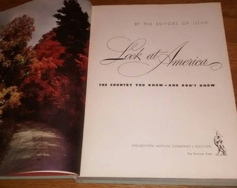 "FREE SHIPPING - 1946 ""Look at America"" photographic coffee table book"