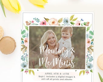 Mommy and Me Mini Session Template, Mommy and Me Template, Mini Session Template, Photography Marketing Template, Marketing Board AD237B