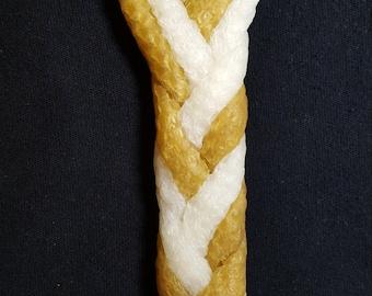 Havdalah - Milk & Honey - 6 wick braided - 100% Natural Beeswax Candle