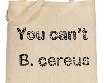 Microbiology Gift, Shoulder Bag Pun for Doctors, Medical School Gift