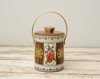Floral Tin with Handle ENGLAND